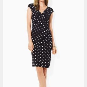 Ralph Lauren Polkadot Midi Faux Wrap Dress